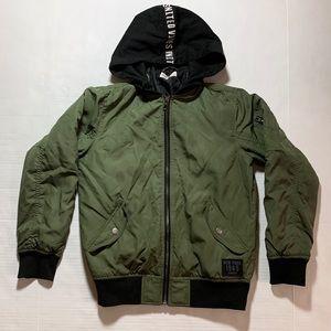 boys H&M green bomber jacket